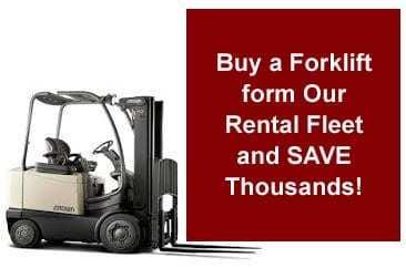 forklift sales from our rental fleet