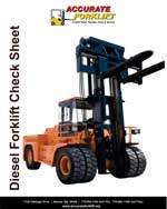 diesel forklift check sheet - accurate forklift