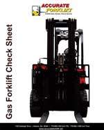 gas forklift check sheet