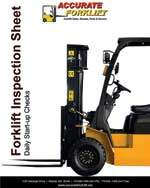 forklift inspection sheet - accurate forklift