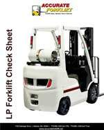 lp forklift check sheet - accurate forklift