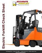 electric forklift check sheet - accurate forklift atlanta