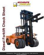 diesel forklift check sheet - accurate forklift atlanta